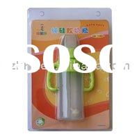 Green color silicone baby feeding bottle