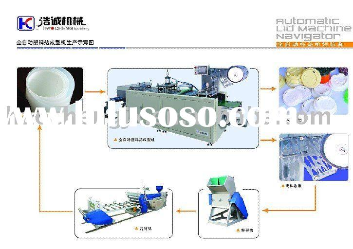 High Speed Plastic cup lid thermoforming machine