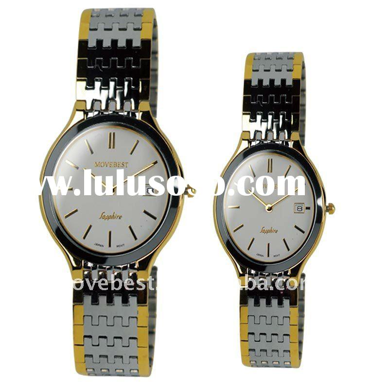 Hot Sell Stainless Steel Watch with S/S Band or Leather Strap