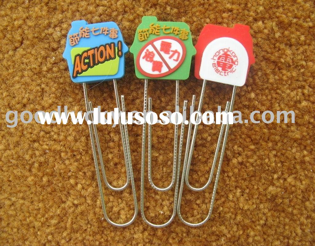 Hot sale kids gift for plastic pvc paper clip