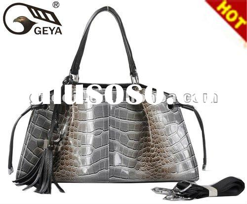 Hot selling!2012 fashion and newest lady pu handbag in brand name