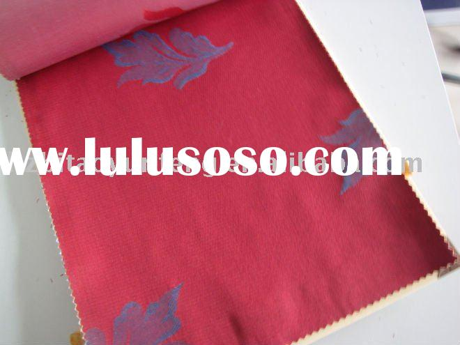 Jacquard mattress ticking fabric with red color
