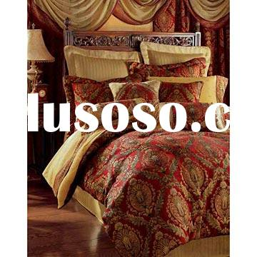 Jacquard quilted comforter set