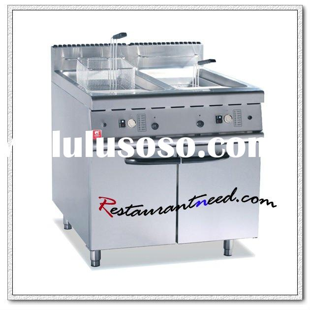 K006 700/800 Series Electric/Gas 2-Tank Fryer (2-Basket) With Cabinet
