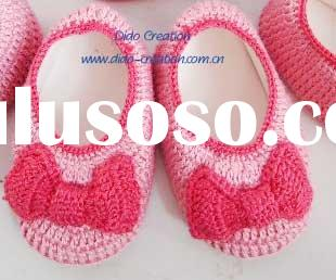KT07002A Handmade Crochet Baby Shoes Bow footwear for babies