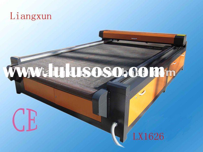 LX1626 fabric and leather laser cutting machine