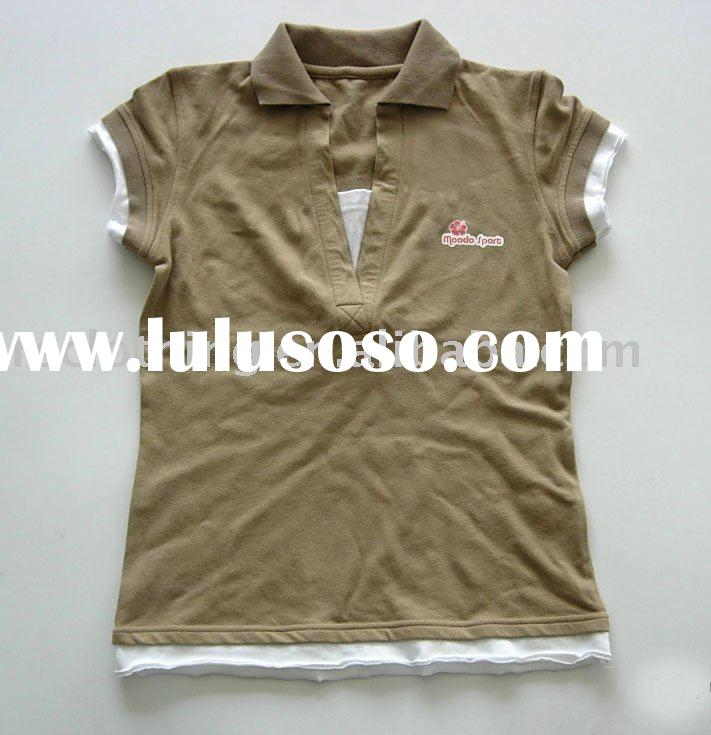 Ladies Cotton/Spandex polo shirt