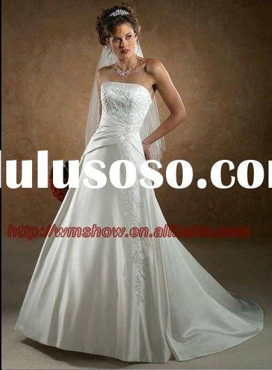 Latest design satin short sleeves high neck 2011 bridal for Crystal design wedding dresses price