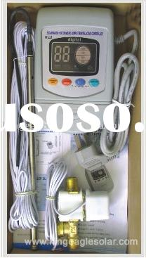 Micro computer controller, solar hot water heater, electric heater