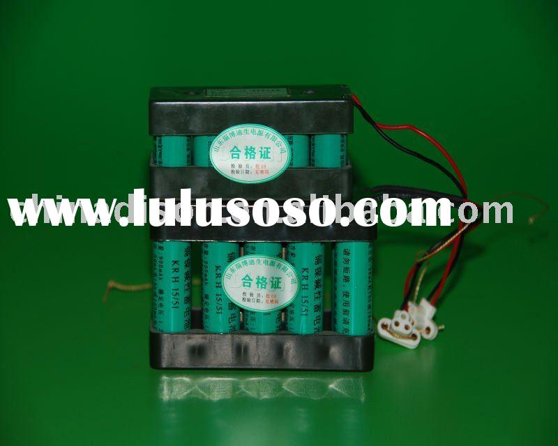 Military quality AA 900mAh 12v NICD rechargeable battery pack