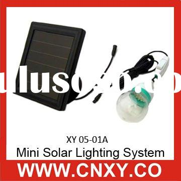 Mini Solar LED Lighting System with PV Panel, XY05-01A