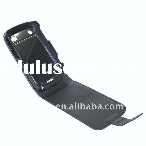 New arrival Carbon fiber flip leather case for Blackberry Bold 9900 9930