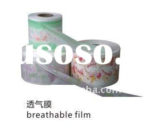 PE Breathable film for Sanitary Napkin or baby/adult diaper back sheet