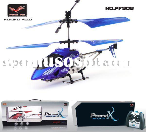Pengfei~PF908,25CM 3CH Metal RC helicopter,Gyro System Led lights