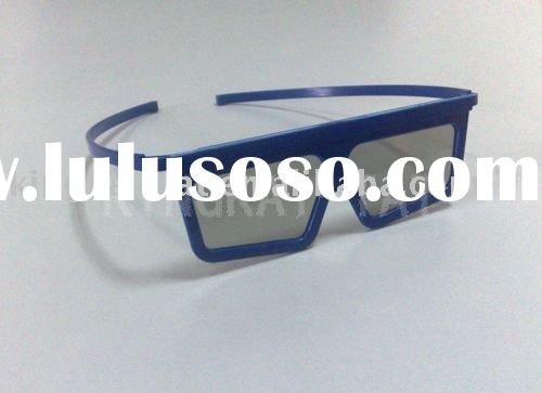 Plastic circular polarized 3D Glasses