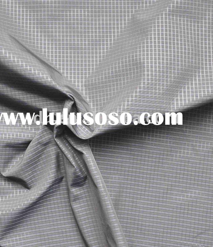 Polyester imitated memory fabric with embossing