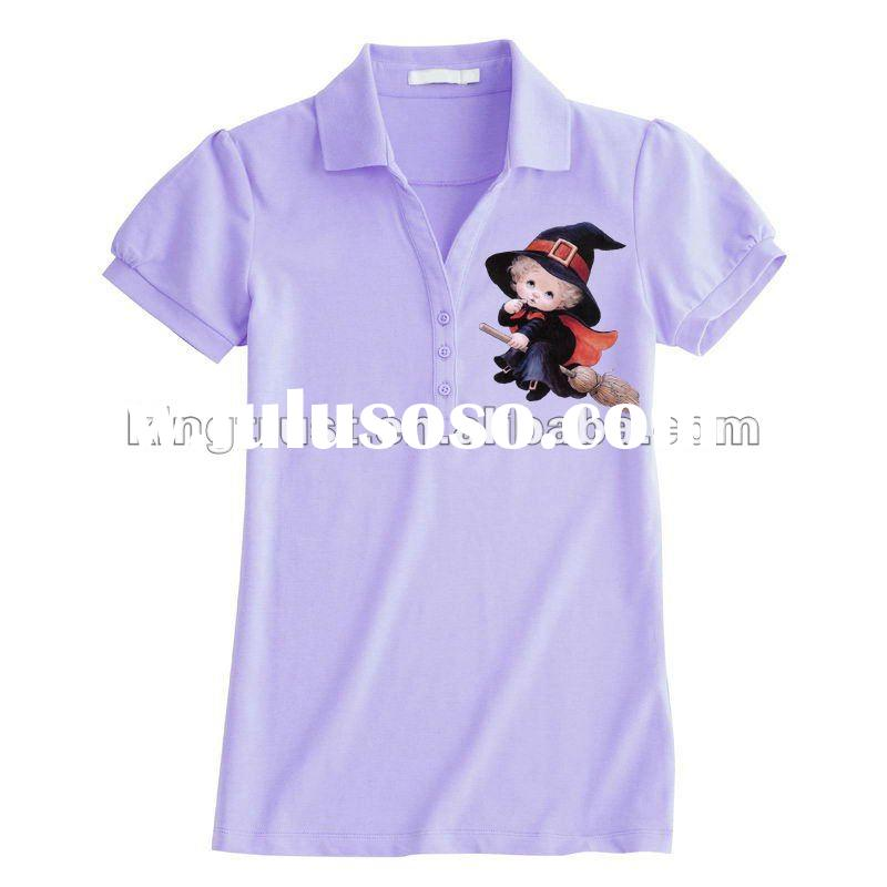 Promotional printing cheap polo t shirt garment for lady 2012 summer