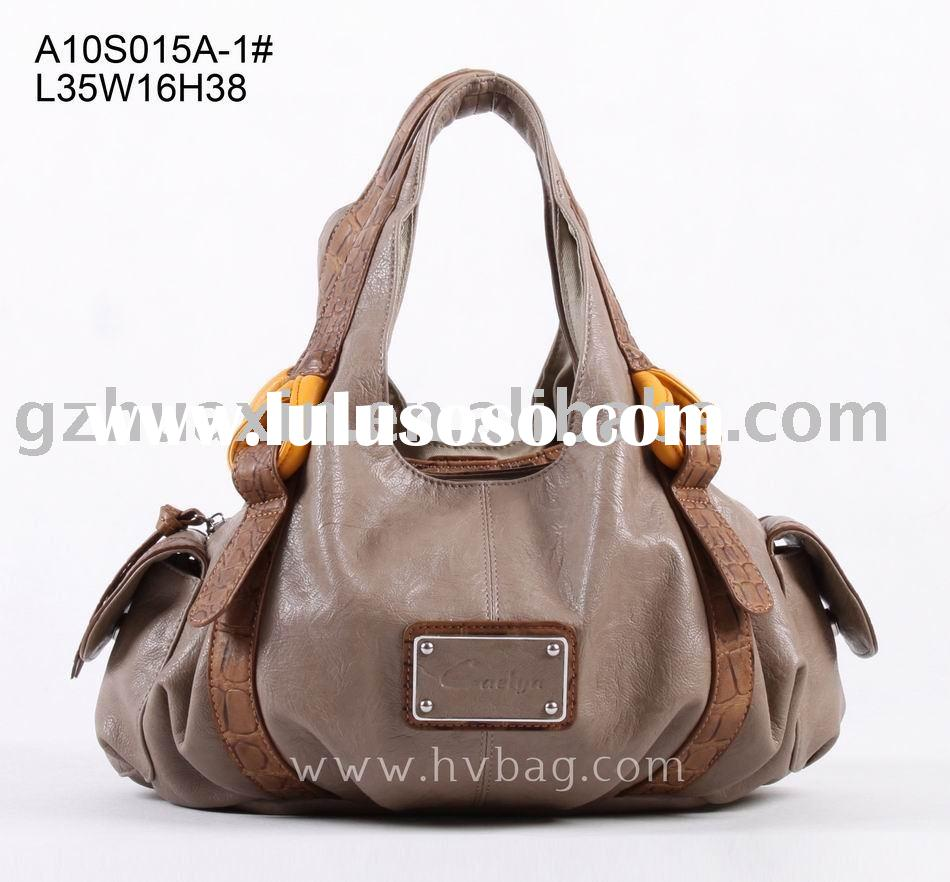 Pu ladies fashion handbags, cheap price bags