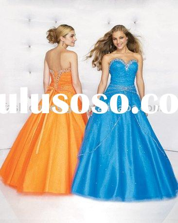 RQ029 New style crystals lovely girl prom gown Quinceanera Dresses