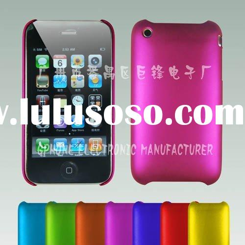 Rubberized mobile phone half hard case for iphone 3G/3GS --super thin
