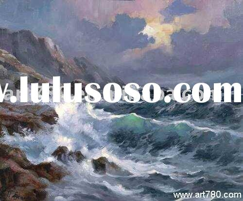 Seascape oil painting,decorative oil painting,sea view oil painting