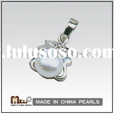 Siver Pearl Necklace Pendant