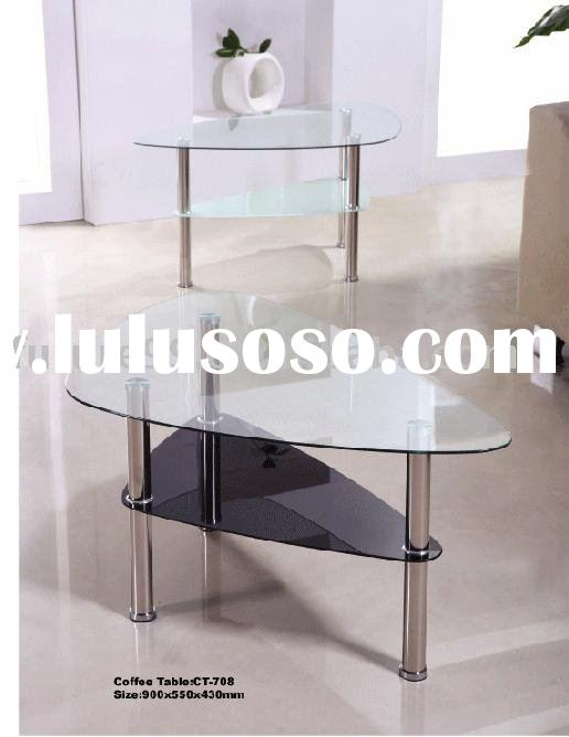 Tempered Glass Coffee Table (Stainless Steel Table legs)