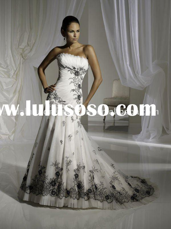 Traditional hand made exquisite embroidery formal wedding dress/bridal gownZAP013