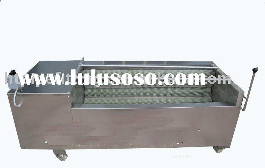 Vegetable/fruit washing and peeling machine