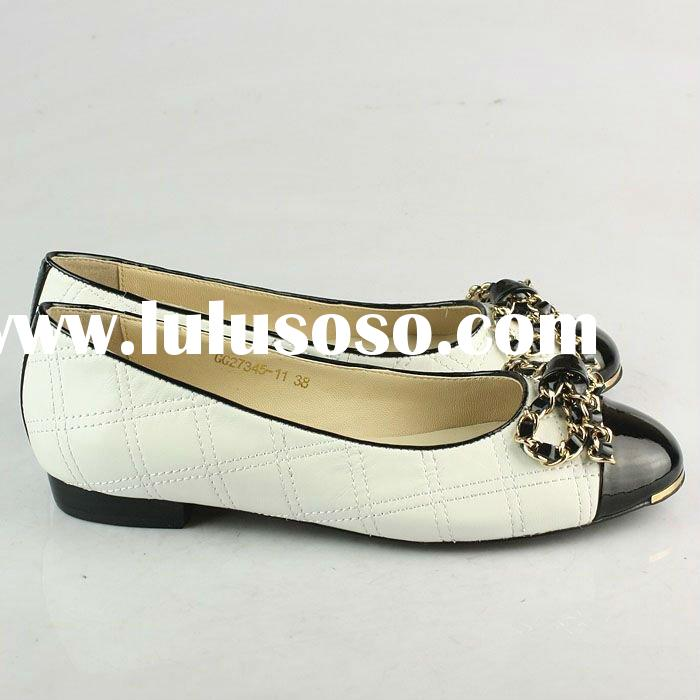 Wholesale paypal Discount designer women gold leather calfskin moccasin slip-on shoes