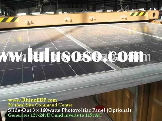 With solar panel container house