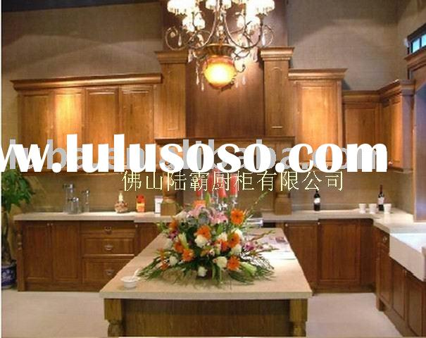 american style wood kitchen cabinet