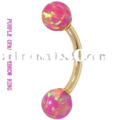 beautiful glitter eyebrow body ring piercing jewelry