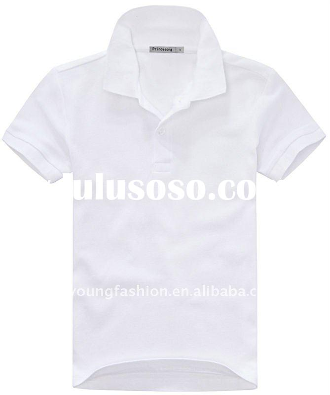 cheap 100 cotton high quality low price short sleeve white plain polo shirts for man slim fit