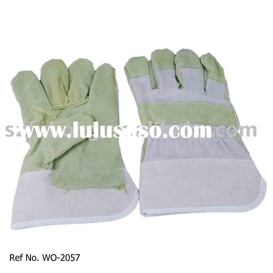 cheap leather safety work glove for general work