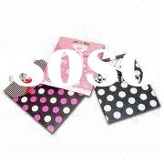 colorful polka dot printing paper gift bags with ribbon