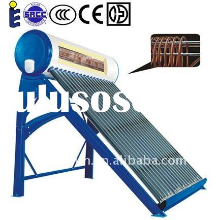 compact pre-heating solar water heater with copper coil