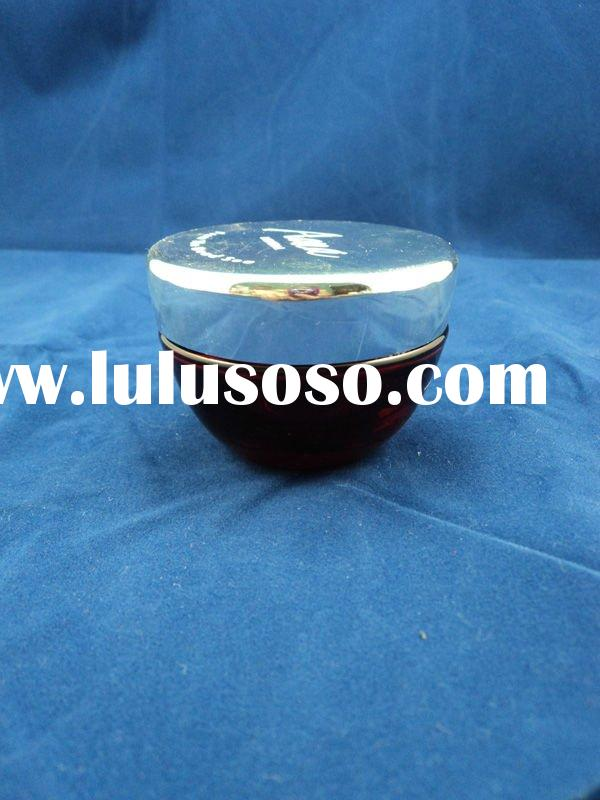 cosmetic cream glass jar with two-layer alumium cap