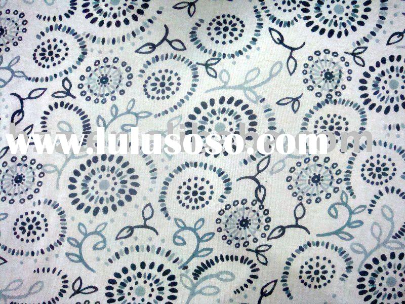 cotton spandex single jersey printed fabric