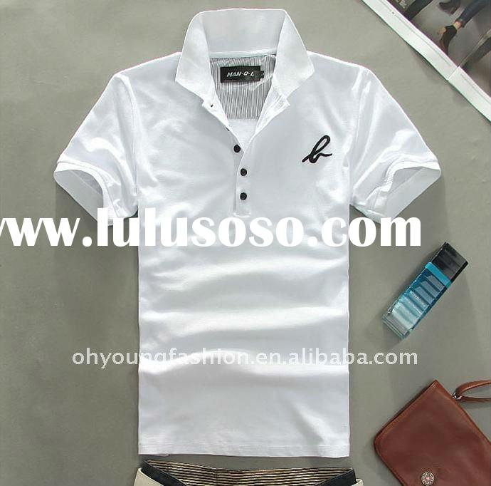 custom men's cotton pique casual white blank polo t shirt in low price