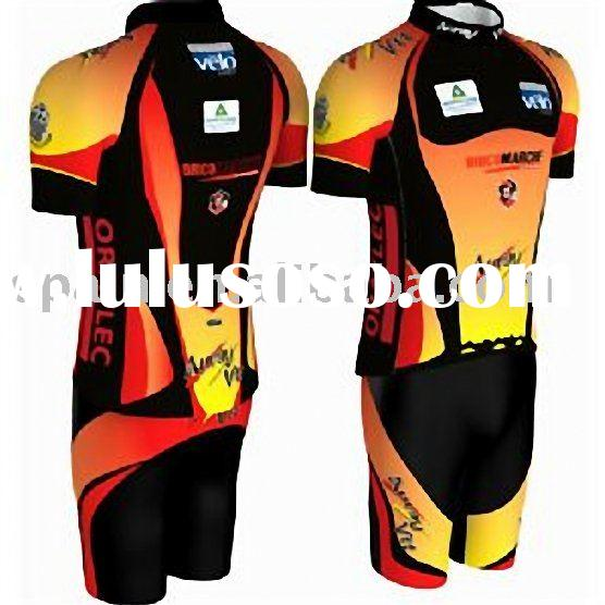 cycling wear with digital sublimation printing