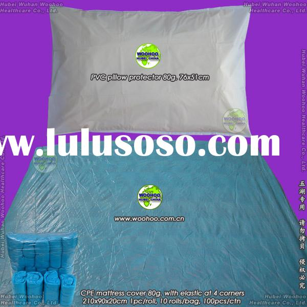 disposable CPE mattress cover (CPE bed sheet, PVC pillowcase)