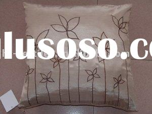 elegant embroidered cushion cover