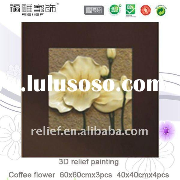 fabric painting designs flower picture,wall decor painting,natural flower scenery painting,handmade