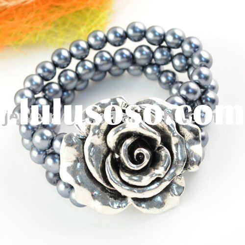 fashion jewelry ,multi-row bracelets ,rose embossed design ,paypal ,free shipping ,br-1127