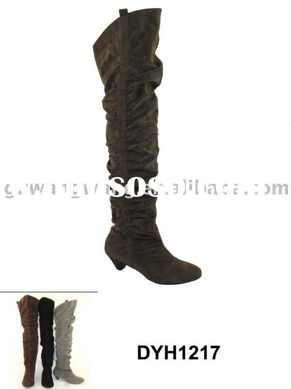 fashion lady flat knee high boots
