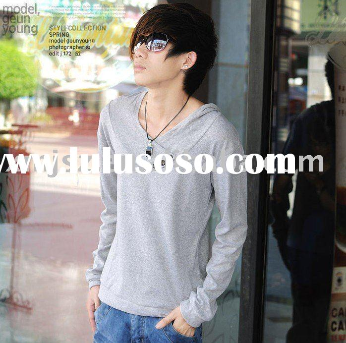 fashion! special grey longsleeve cotton t shirts