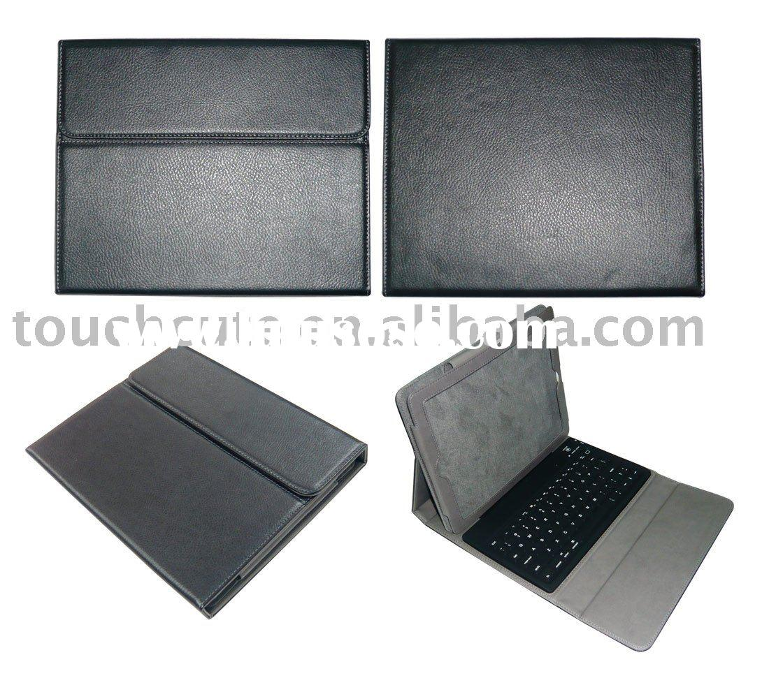 for iPad leather case with Built-in Bluetooth Keyboard
