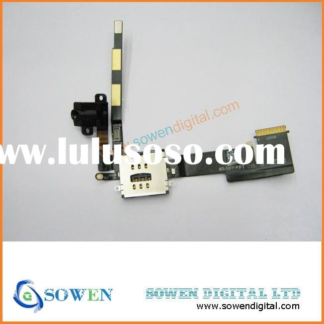 for ipad 2 3g standard headphone jack audio flex cable with sim card reader