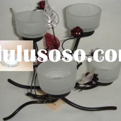 frosted glass candle holder cup